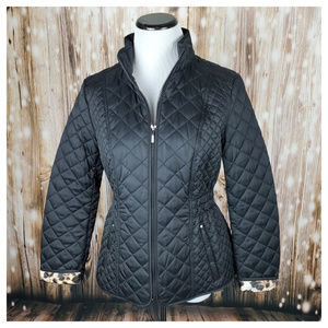 Laundry by Shelli Segal Quilted Jacket Black SP